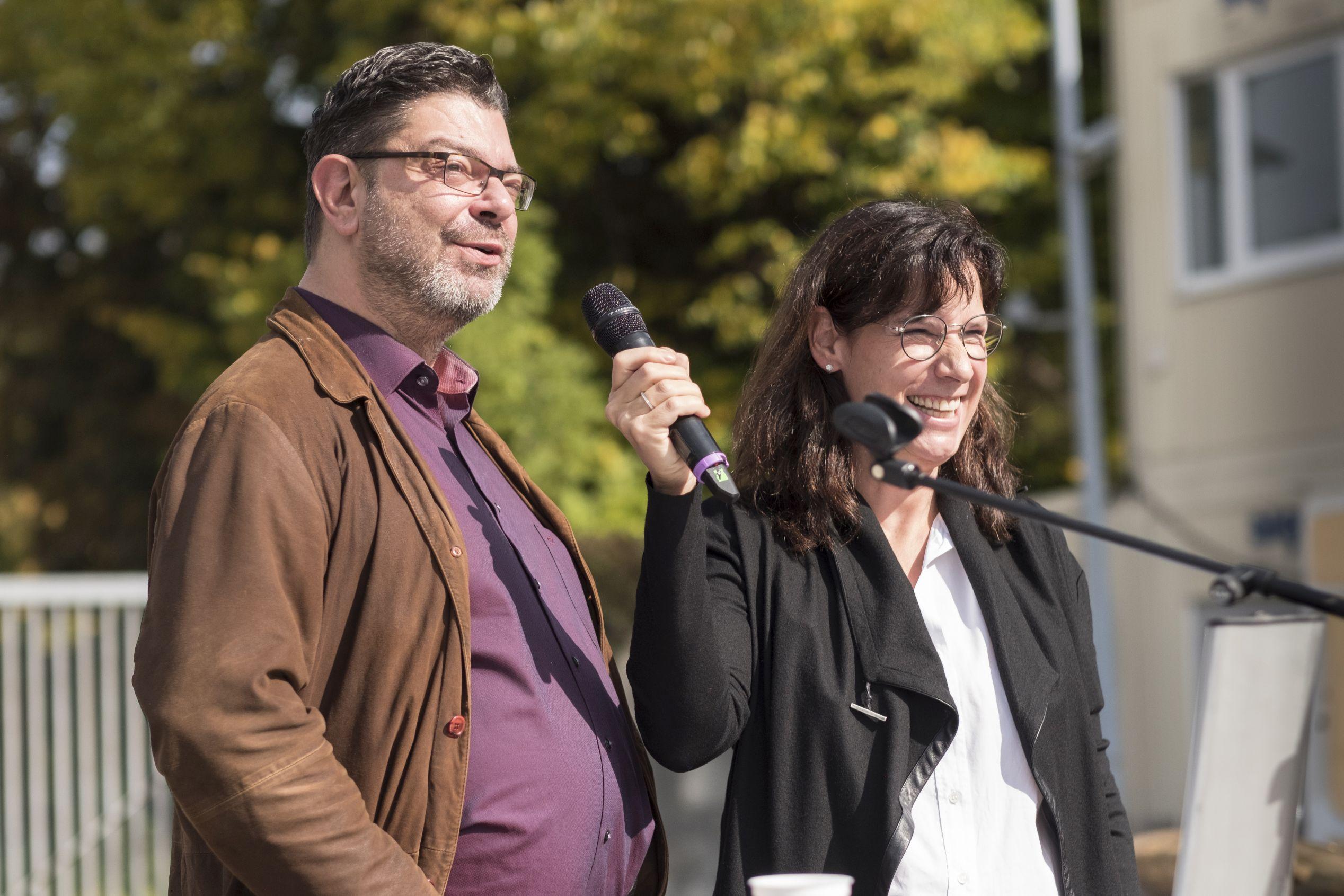 Thomas Schindlbeck (li) und Myriam Brock