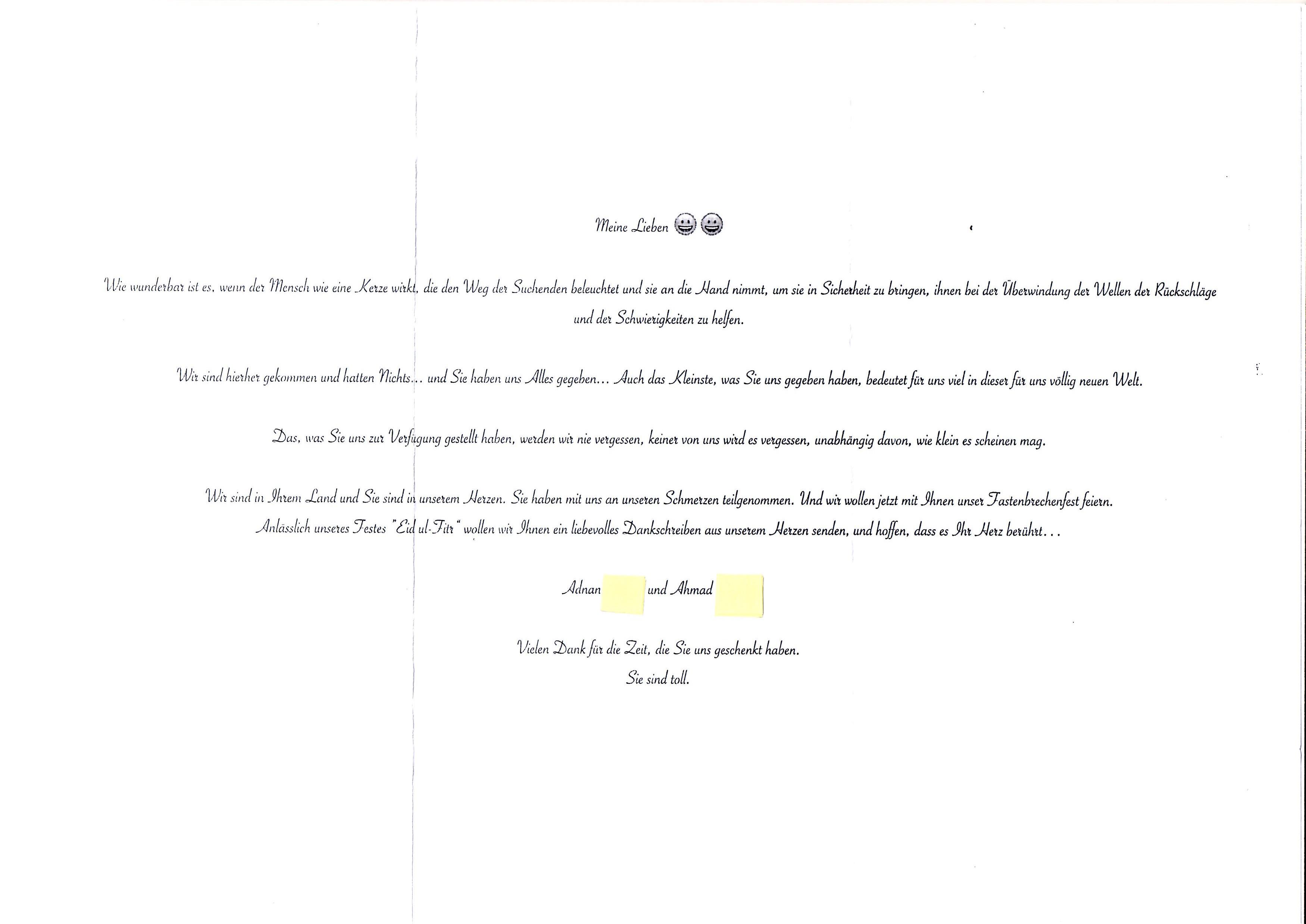 Charmant Dankesbriefe Für Empfehlung Galerie - Bilder für das ...